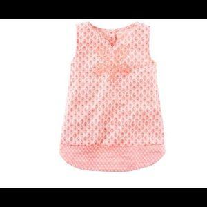 Carters Girls Paisley printed tunic NWT